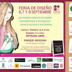 Próximos 6,7 y 8 de Septiembre Café Costura en Feria de diseño Krea, en Parque Arocena.