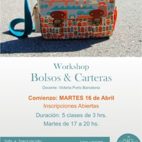 WORKSHOPS de BOLSOS & CARTERAS