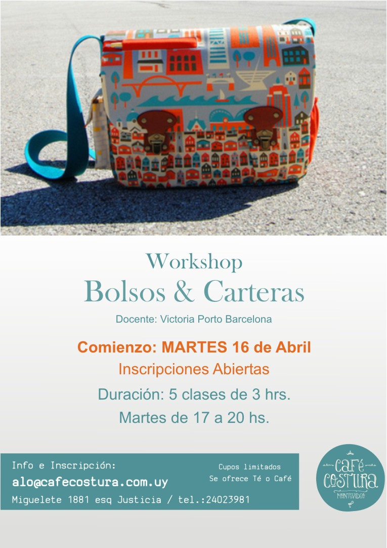 WORKSHOPS de BOLSOS & CARTERAS | Café Costura