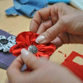 Taller de Flores (tela y crochet)