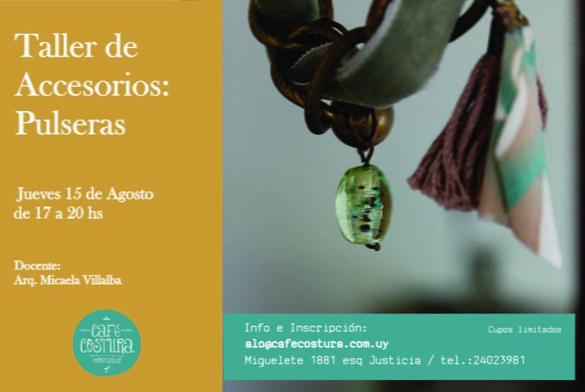 Taller de Pulseras en Café Costura Montevideo