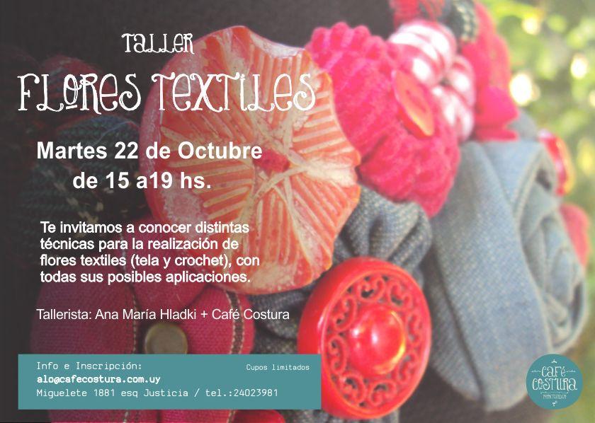 ¡Taller de Flores Textiles en Café Costura!