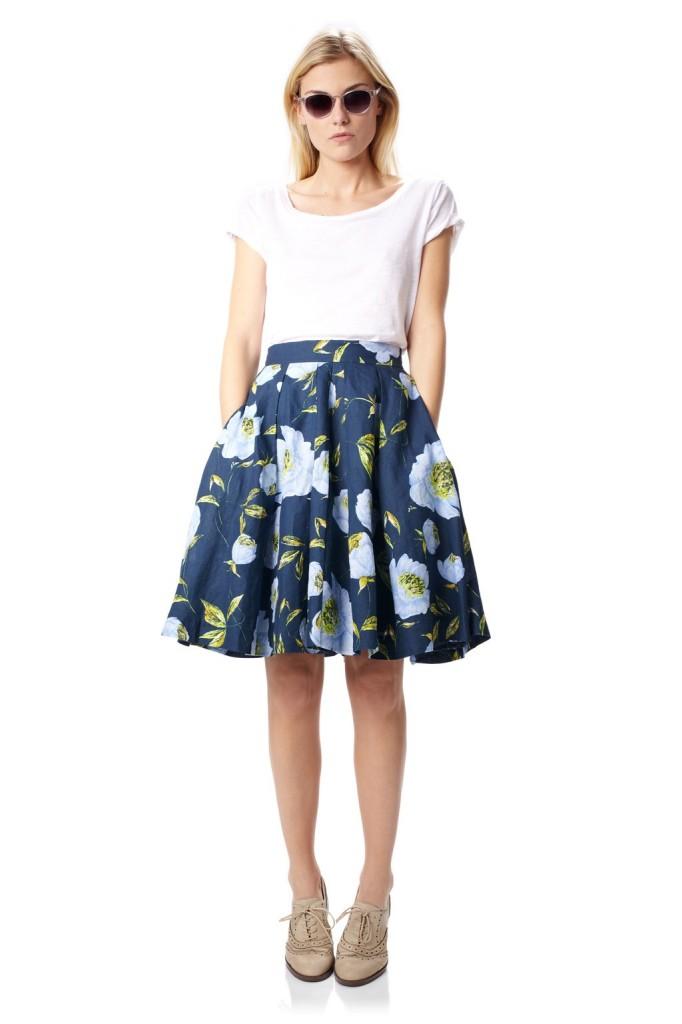 Spring-Bloom-Flared-Skirt