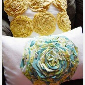 """Taller Deco- Hogar: Almohadón """"Rosette Pillow"""""""