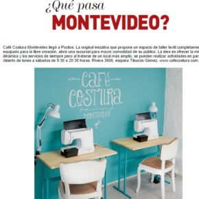 Revista Paula: ¡Café Costura llegó a Pocitos!